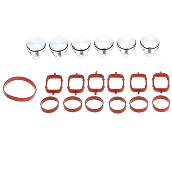 33 mm Swirl Flap Blanking Kit with Intake Gaskets For BMW E46 E90 E65 E53 - Pack of 6