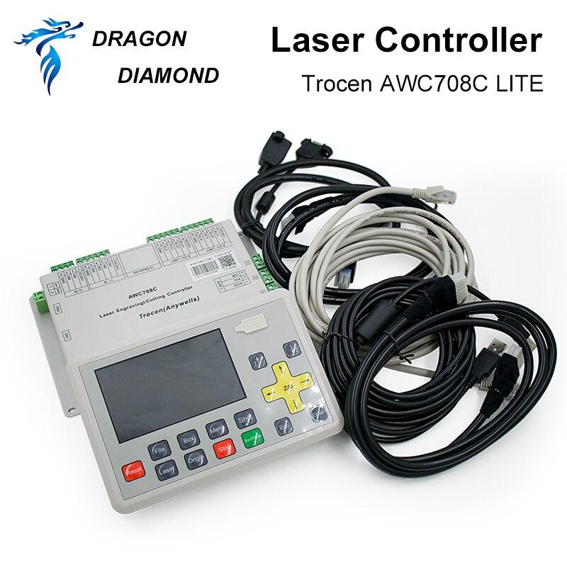 Купить с кэшбэком Original Trocen AWC708C LITE Co2 Laser Controller System for Laser Engraving and Cutting Machine