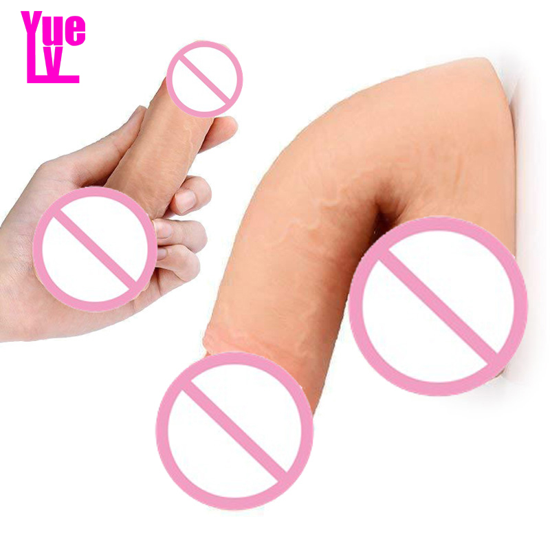 YUELV 14*3.5CM Small Soft Realistic Dildo For Beginners <font><b>Sex</b></font> <font><b>Toys</b></font> For Women Artificial <font><b>Penis</b></font> <font><b>Adult</b></font> <font><b>Sex</b></font> Products Masturbation image