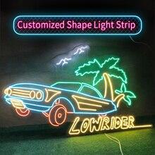 Custom Neon light 12V LED Strip SMD 2835120LEDs/M Flexible Waterproof for Modeling Word Decorative Advertising Signboard