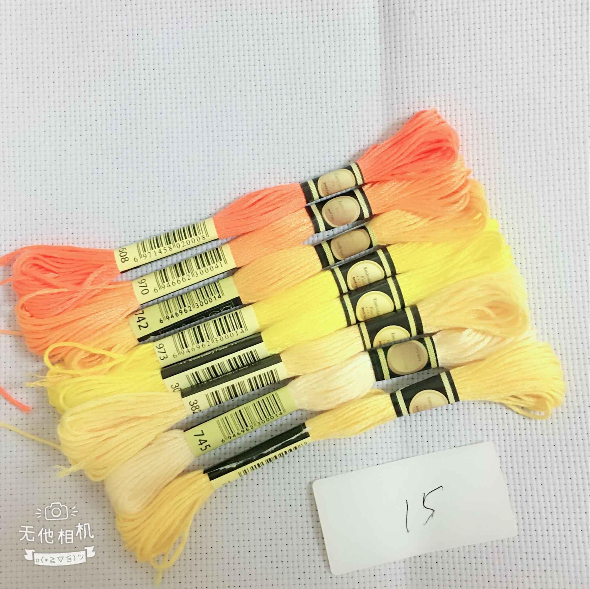 YZXINYUAN 8 ชิ้น/ล็อตคำสีหัวข้อปักครอสติส Floss 6 หุ้นเย็บปักถักร้อยด้ายเย็บ Skeins Craft สำหรับ