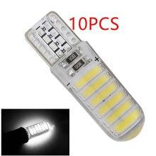 50 adet yeni T10 silikon kılıf LED 7020 12 SMD LED 7014 194 W5W araba yan kama işık lamba ampulü soğuk beyaz 6500K araba stil 12V