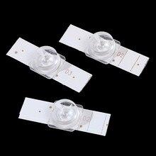 20 contas côncavas da lâmpada da lente dos pces 3v smd com fliter ótico da lente para o reparo conduzido da tevê