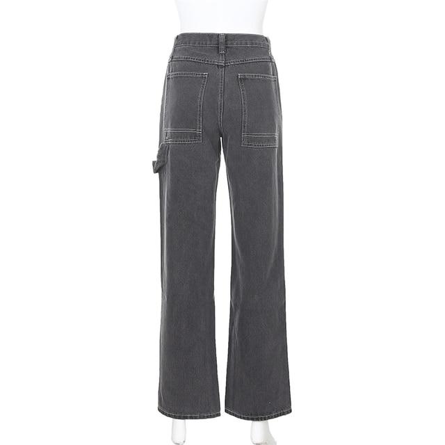 Streetwear Straight Denim Pants  6