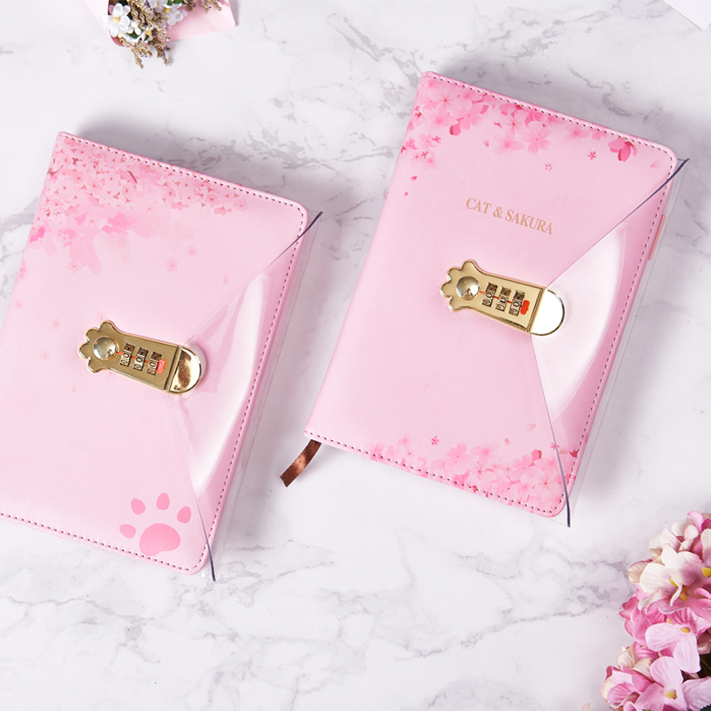 Image 3 - A5 Agenda 2019 2020 Schedule Planner Organizer Creative Kawaii Password Notebook with Lock Girl Diary Notebook Bullet Journal-in Notebooks from Office & School Supplies