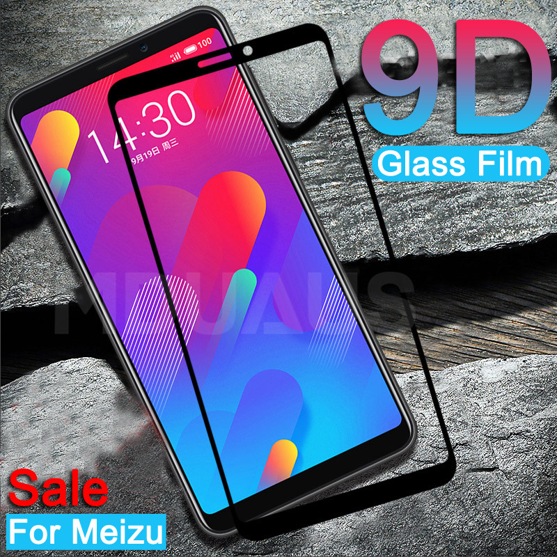 9D Tempered Glass On The For Meizu M8 Lite M8 M6 M5 Note M6S M6T M5S M5C V8 Pro Screen Protector Protective Glass Film Case