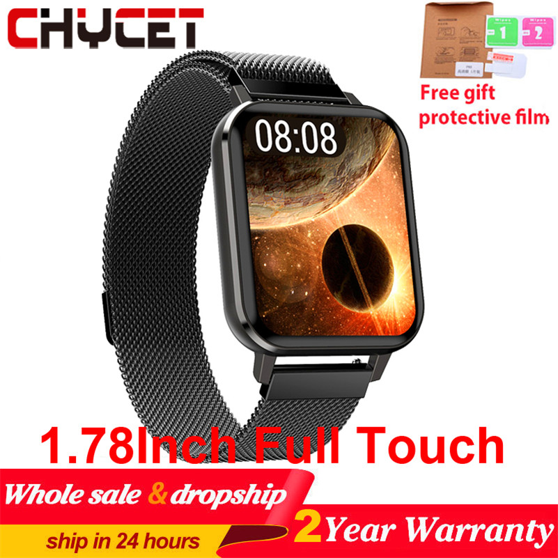 Bluetooth 5 0 Smart Watch 1 78 Inch 485 420 Resolution Full Touch ECG Smartwatch Men Women IP68 Waterproof Watch For Android IOS