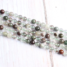 Green Ghost Natural Stone Beads For Jewelry Making Diy Bracelet Necklace 4/6/8/10/12 mm Wholesale Strand