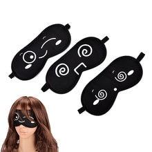 1 stücke Cartoon Augen Maske Schlafen Augen Maske Schwarz Auge Schatten Schlaf Maske Schwarze Maske Verband auf Augen für Schlaf gesundheit Pflege