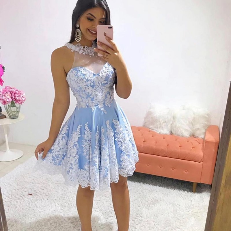Homecoming Cocktail Dresses Short Prom Evening Formal Dress Long Party Gown 2019 Abendkleider Robe De Soiree