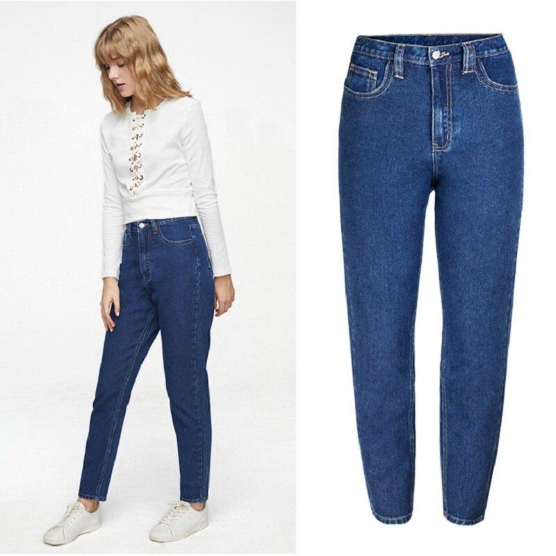 New Korean Fashion High Waist Straight Jeans For Women Plus Size Denim Pants Sale Items 2019 Autumn Promotion Free Shiping