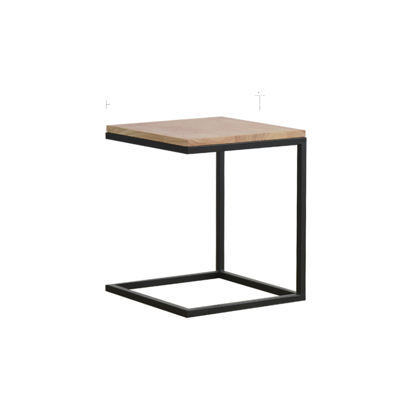 Nordic Small Table Living Room Square Small Square Table Corner Table Side Table Solid Wood Sofa Coffee Table Iron Table
