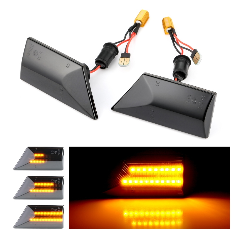 Image 5 - 2 pieces Led Dynamic Side Marker Turn Signal Light Sequential Blinker For Opel Vectra C 2002 2008 For Opel Signum 2003 2008Signal Lamp   -