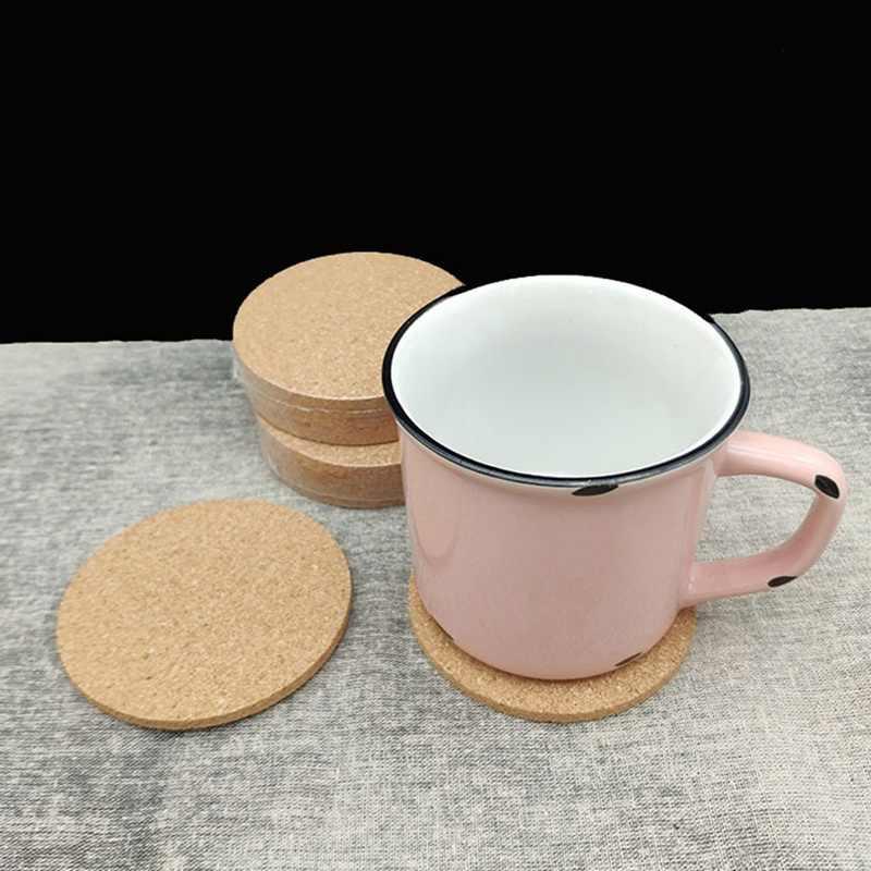 1 Uds liso ronda corcho posavasos café beber, té, taza estera de tabla creativa mantel para mesa de Comedor Cocina accesorios de decoración