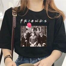 Delle donne di Halloween di Orrore Personaggi Amici TV Show Divertente Stampa T-Shirt Della Ragazza di Estate 2020 Horror Design Harajuku 90S Vestiti
