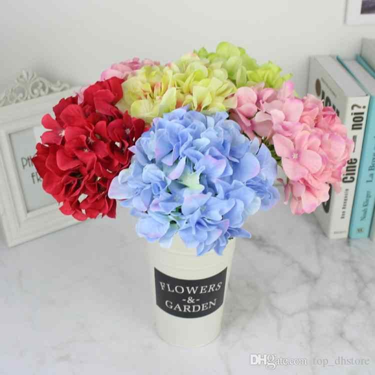 Шёлковая Гортензия цветы Искусственный Свадебный букет невесты свадебные