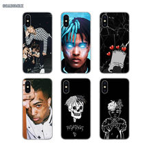 Xxxtentacion Rap Singer For Huawei Mate 7 8 9 10 Pro 20 Lite Y3 Y5 Y6 II Y7 Prime Y9 GR5 2017 2018 2019 Transparent TPU Bag Case(China)