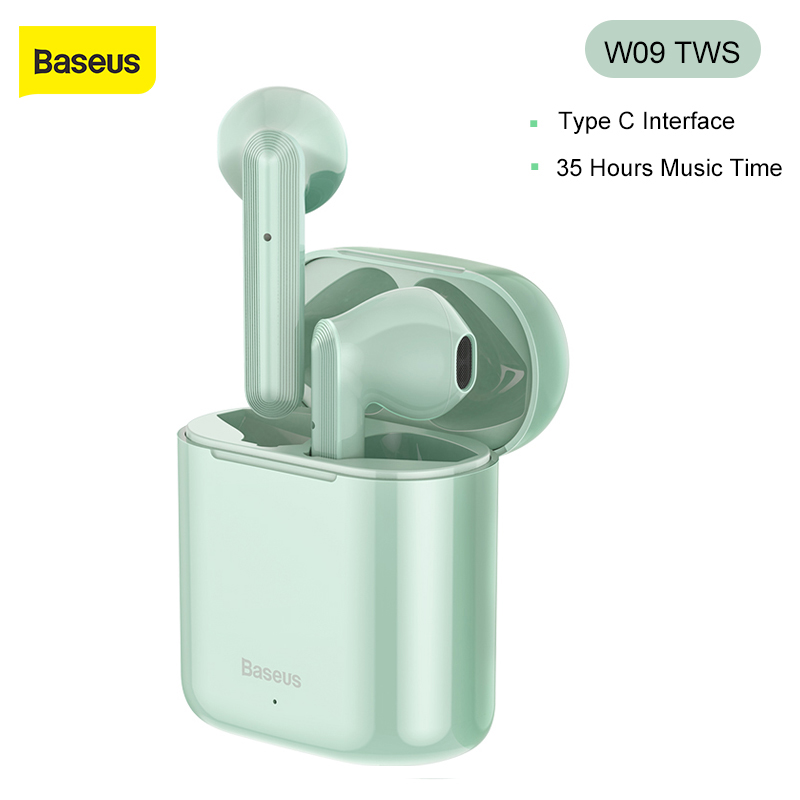 Baseus W09 TWS Wireless Earphone <font><b>Bluetooth</b></font> <font><b>5.0</b></font> <font><b>Headphone</b></font> Mini Earbuds With Charging Box Stereo Sports True Wireless Headset Sale image