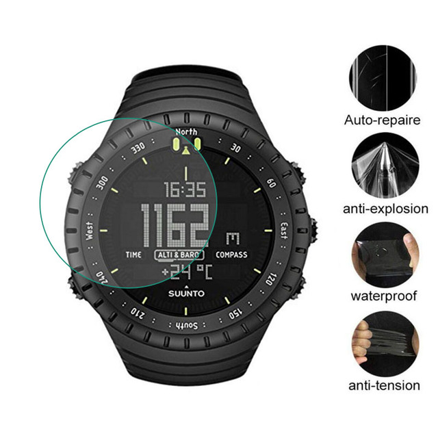 3pcs TPU רך ברור מגן סרט משמר עבור Suunto Core שעון GPS ספורט כל שחור Smartwatch מסך מגן כיסוי (לא זכוכית