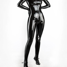 Latex Girl's Catsuit Latex Rubber Cosplay Bodysuit With Zip Back Through Crotch