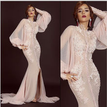 فستان سهرة модные русалки длинное вечернее платье с кружевной