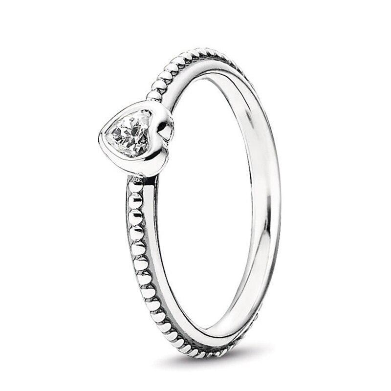 Кольцо на палец в форме сердечко серебряного цвета для женщин, европейская оригинальная Корона, изящные кольца на палец, свадебные украшения, 50 стилей, Прямая поставка - Цвет основного камня: Rings 022