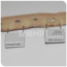 20 pçs nova evox mmk10 0.22 uf 100 v p10mm filme capacitor mmk 224/100 v áudio 224 venda quente 0.22 uf/100 v 220nf
