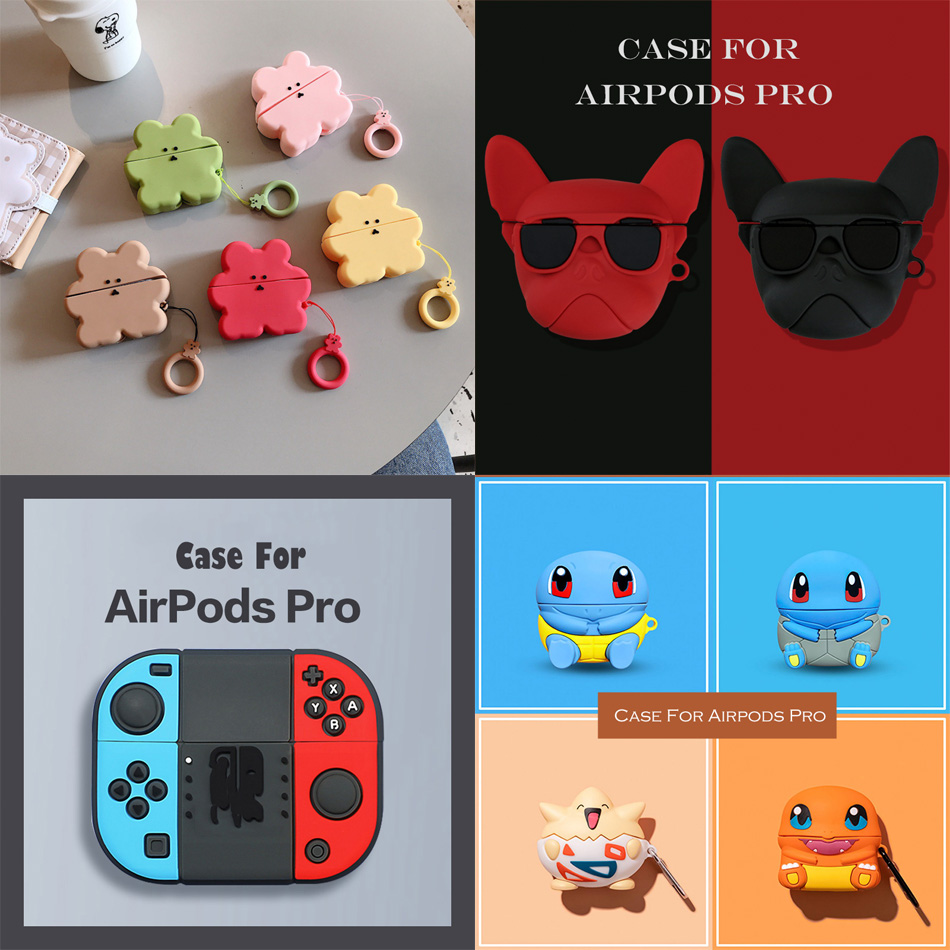 Case For Apple AirPods Pro Case Bluetooth Headset Protective Cover Case For Air Pod Pro 3 Pro 2019 Case Cover Soft Silicone Case