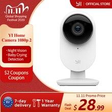 YI kamera 2 1080P FHD inteligentny aparat fotograficzny bezpieczeństwo w domu bezprzewodowa kamera cctv noktowizor edycja ue Android YI chmura dostępna