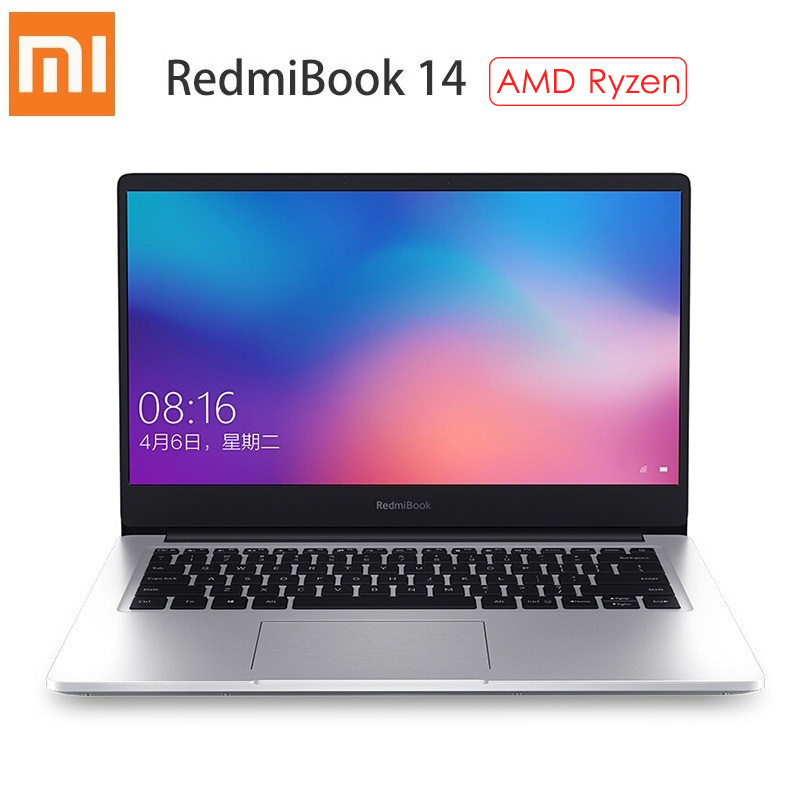 Xiaomi RedmiBook 14 Laptop AMD Ryzen 7 3700U Radeon Vega10 Graphics 16GB RAM 512GB SSD Windows 10 Home Ultra Thin Notebook