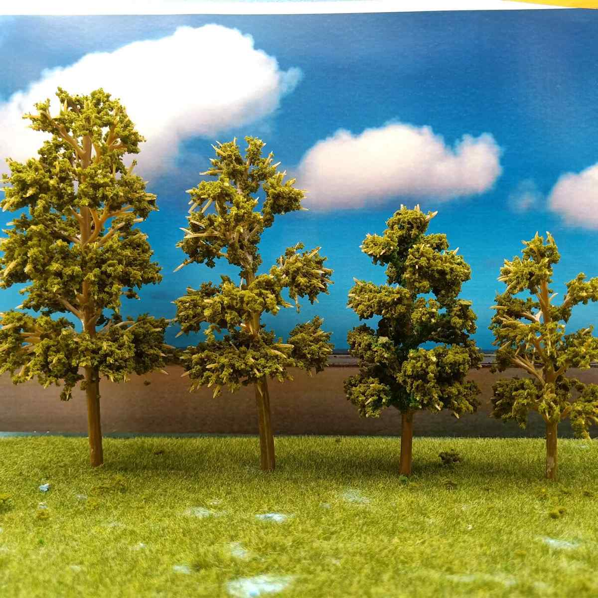 Trees Green Miniature Scale Model Trees Ailroad Toy Train Architecture Diorama Building Road Landscape Sand Table Layout