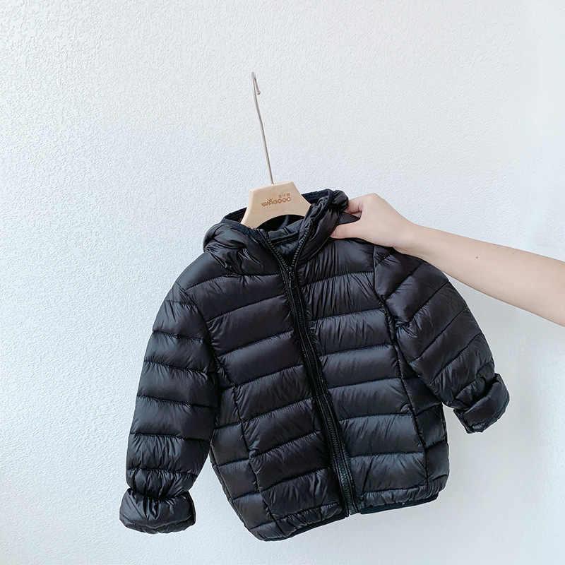 1-6 שנה תינוק בנות בני Parka אור ילדים מעיל הוד ברווז למטה מעיל חורף ילדי מעיל אביב סתיו פעוט הלבשה עליונה