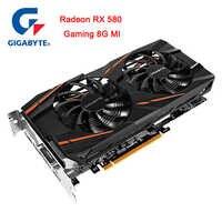 Carte graphique Gigabyte Radeon RX 580 Ga mi ng 8G mi alimentée par l'intuition AORUS 256 Bit 8 GB WINDFORCE 2X avec ventilateur à lame de 90mm