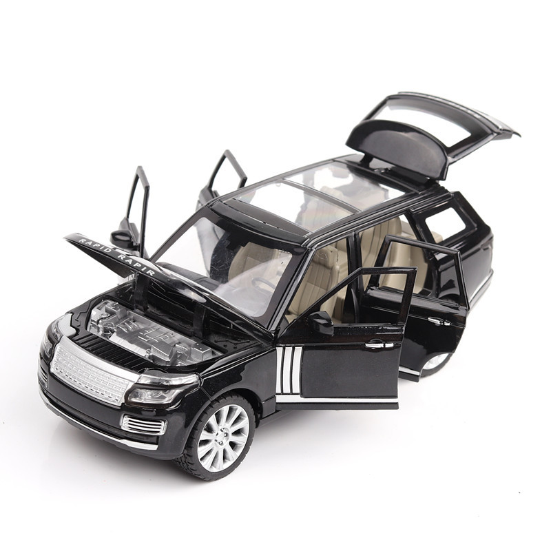 Land Rover Range Rover 124 Alloy Car Model Aluminum Alloy Toy Car Sound And Light Open Door Pull Back Toy