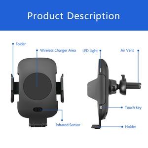 Image 5 - 高速ワイヤレス車の充電器 & 自動誘導車マウント空気ベント電話ホルダークレードル、 iphone 11/XS/X サムスン S10 S9 S8 S7