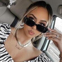 Очки солнцезащитные женские квадратные, брендовые маленькие модные дизайнерские солнечные очки прямоугольной формы, винтажные черные очк...