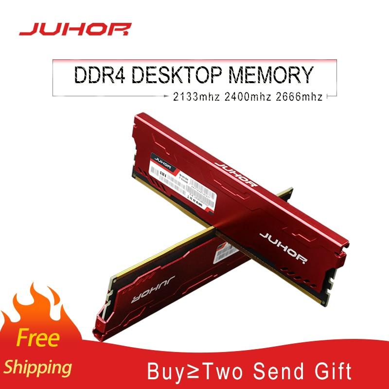 JUHOR memoria ram ddr4 16GB 4GB 8GB  32GB Desktop Memory  udimm 2133mhz 2400mhz 2666mhz New dimm rams with  Heat sink 1