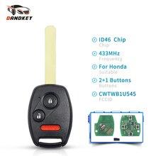 Dandkey 3 Tasten Auto Smart Key CWTWBIU545 ID46 Chip 433MHz Für Honda Pilot 2005 2006 2007 2008 Keyless Remote control Key Fob