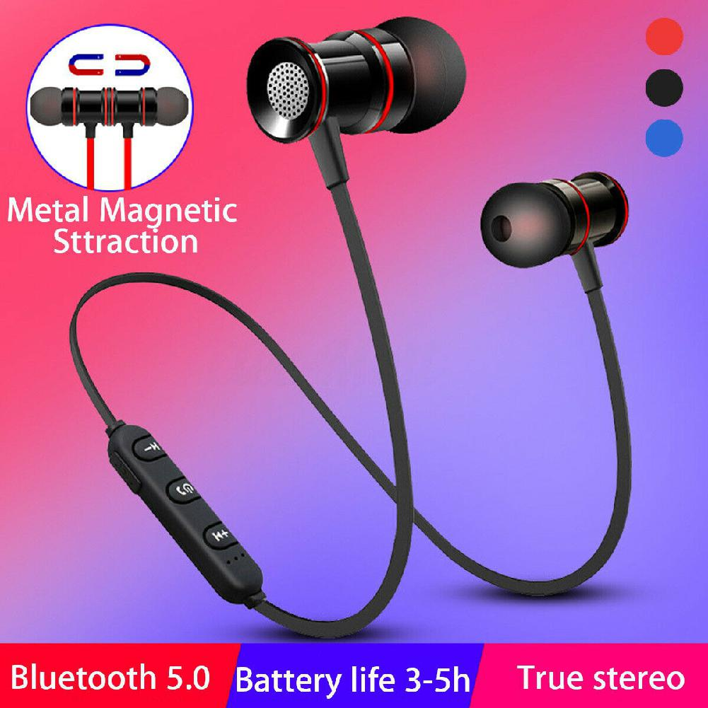 DSstyles Magnetic Wireless Bluetooth 5.0 Earphones Sports Headset Stereo Bass Headphones