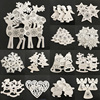 10Pcs Wood with 2M Rope Christmas Tree Pendant Hanging Ornament Deer Angel Santa Claus Xmas Party Decor Home Decoration 62859