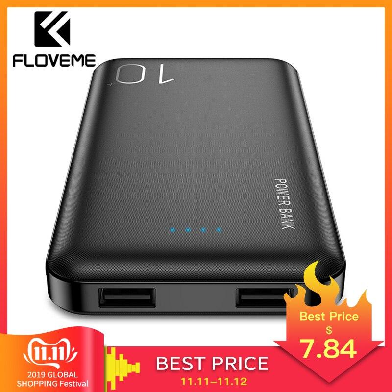 FLOVEME Power Bank 10000mAh Für iPhone Xiao mi Power Externe Batterie Pack Tragbare Ladegerät mi Power Poverbank Power Bank