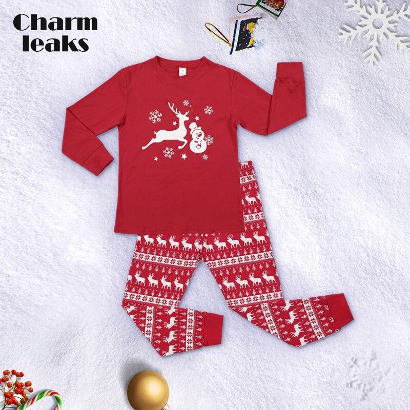 Charmleaks/Детский Рождественский пижамный комплект; Новинка; Рождественская одежда для сна; детская одежда для сна; комплект домашней одежды; зимняя одежда - Цвет: 8108