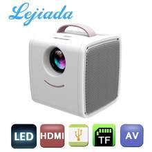 Портативный мини-проектор LEJIADA Q2 с ЖК-дисплеем и поддержкой 1080P Full HD HDMI-совместимый с USB для детей