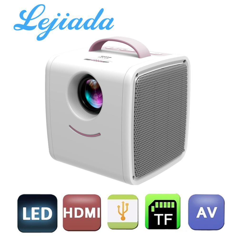 LEJIADA-miniproyector portátil Q2 LCD, compatible con 1080P, Full HD, HDMI, USB, para niños, estudio, regalo de Navidad