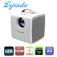 LEJIADA Q2 LCD Mini Portable Projector Support 1080P Full HD HDMI USB for Children Study Christmas present Proyector