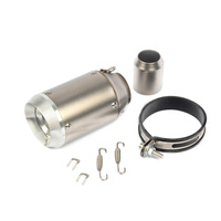 Kit Exhaust Tail Pipe Motorcycle Set Muffler Adapter Parts Stainless steel