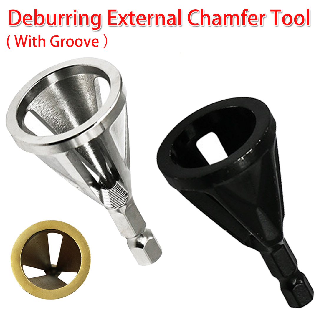 Stainless Steel Deburring External Chamfer Tool High Strength Hardness Drill Bit Remove Burr 1/4 Shank For Copper/ Wood/ Plastic