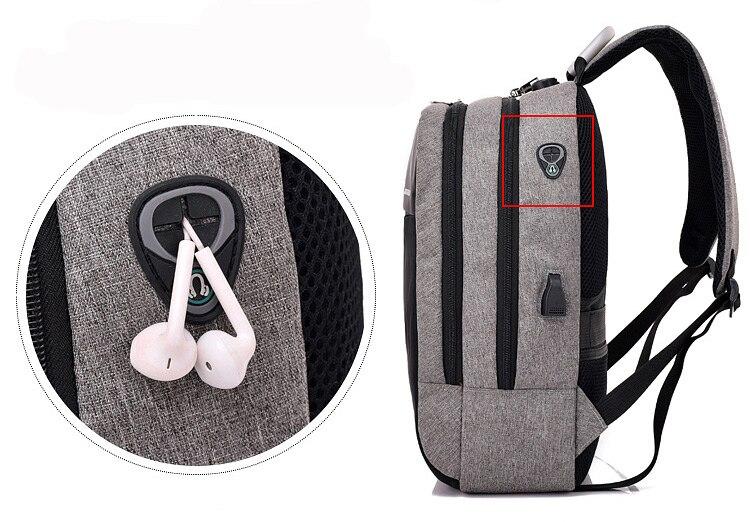 novo carregamento usb mochilas à prova dwaterproof água sacos de viagem negócios