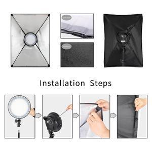 Image 2 - Chụp Ảnh Đèn LED Đính Hạt Softbox Bộ Đèn Kit 2 Màu Ánh Sáng Liên Tục Mềm Hộp 45W Hệ Thống Phụ Kiện Chụp Ảnh Phòng Thu video