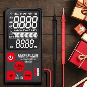 BSIDE AC/DC Voltage Current Meter Tester LCD Screen Digital Smart Multimeter Large Ultra-thin 9999 Counts Voltage Current Meter(China)